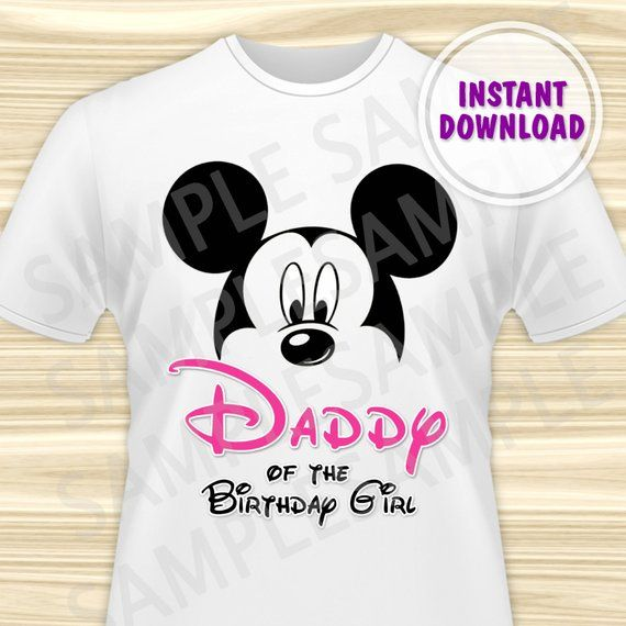 4cf73071f Minnie Mouse Dad of the Birthday Girl Iron On. Minnie Mouse Birthday Iron  On Transfer. Minnie Mouse