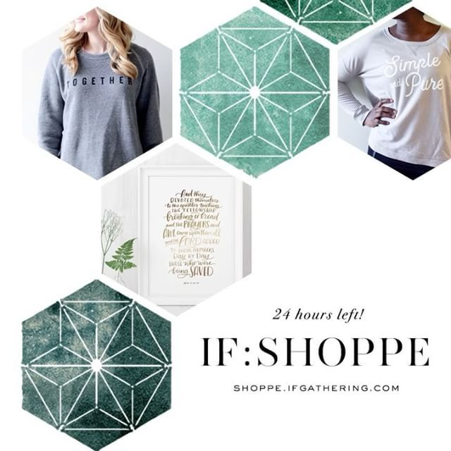 ONE DAY left to purchase the IF:Local goodies & receive them in time for Feb. 3-4 gatherings! Books, prints, apparel & more -- all perfect for sharing amongst your crew or keeping for yourself (we won't tell). • Order by Jan. 26th → https://shoppe.ifgathering.com/collections/if-2017-merchandise