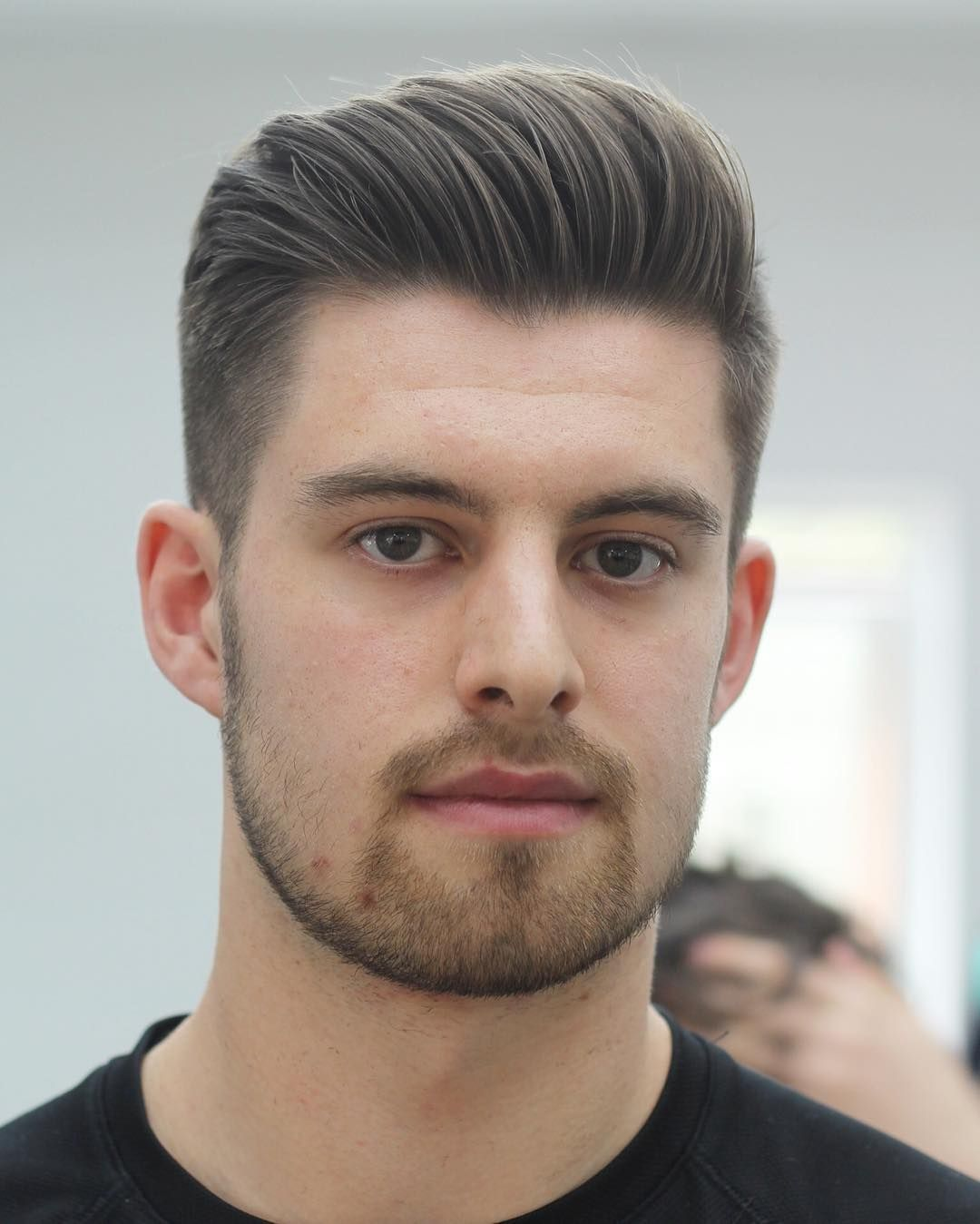Medium Hairstyles - Blow Dried Back Medium Length Hairstyle  Mens