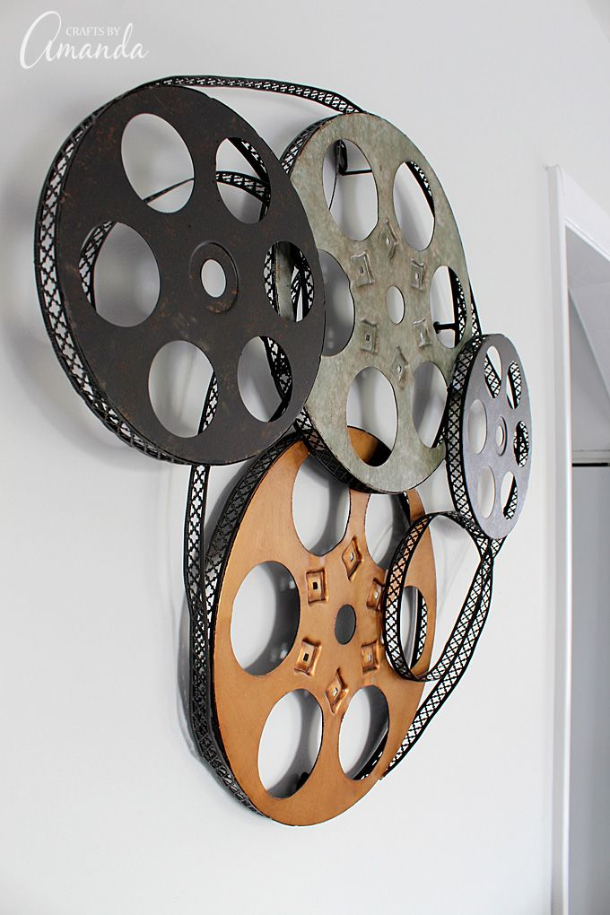 Decorate your family room with movie theater themed decor for a fun ...