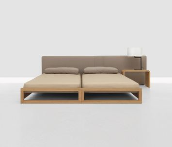 Stacking Bed Solid Wood Oiled Beech Maple Oak American Cherry
