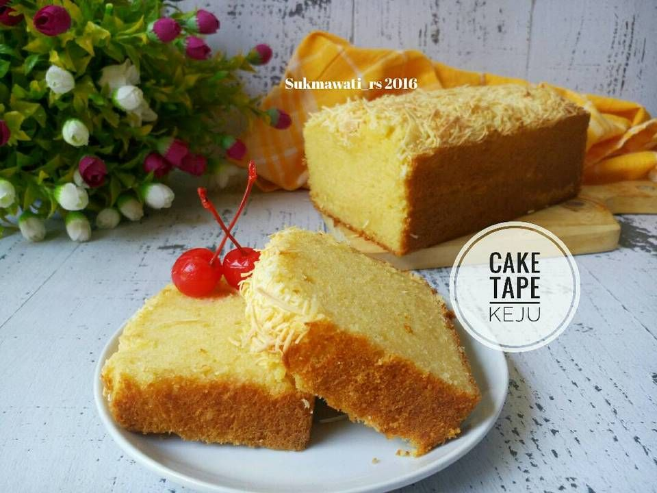 Resep Cake Tape Keju Oleh Sukmawati Rs Resep Makanan Kue Camilan Makanan Enak