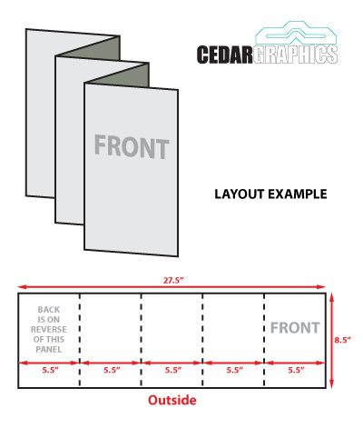 Concertina Fold Card - Recherche Google Card Templates - blank brochure templates