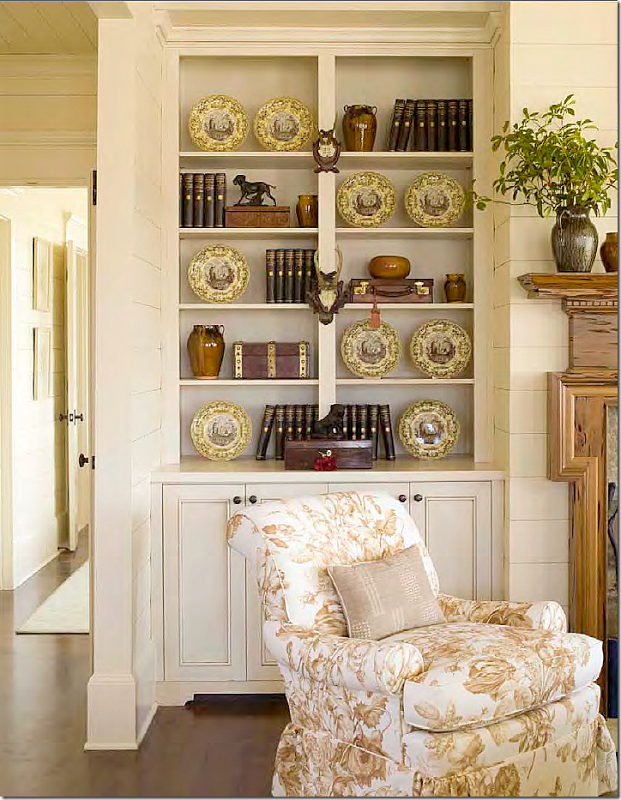 images of ginny magher designs | love how Ginny Magher did these shelves - mixed with antiques and ...