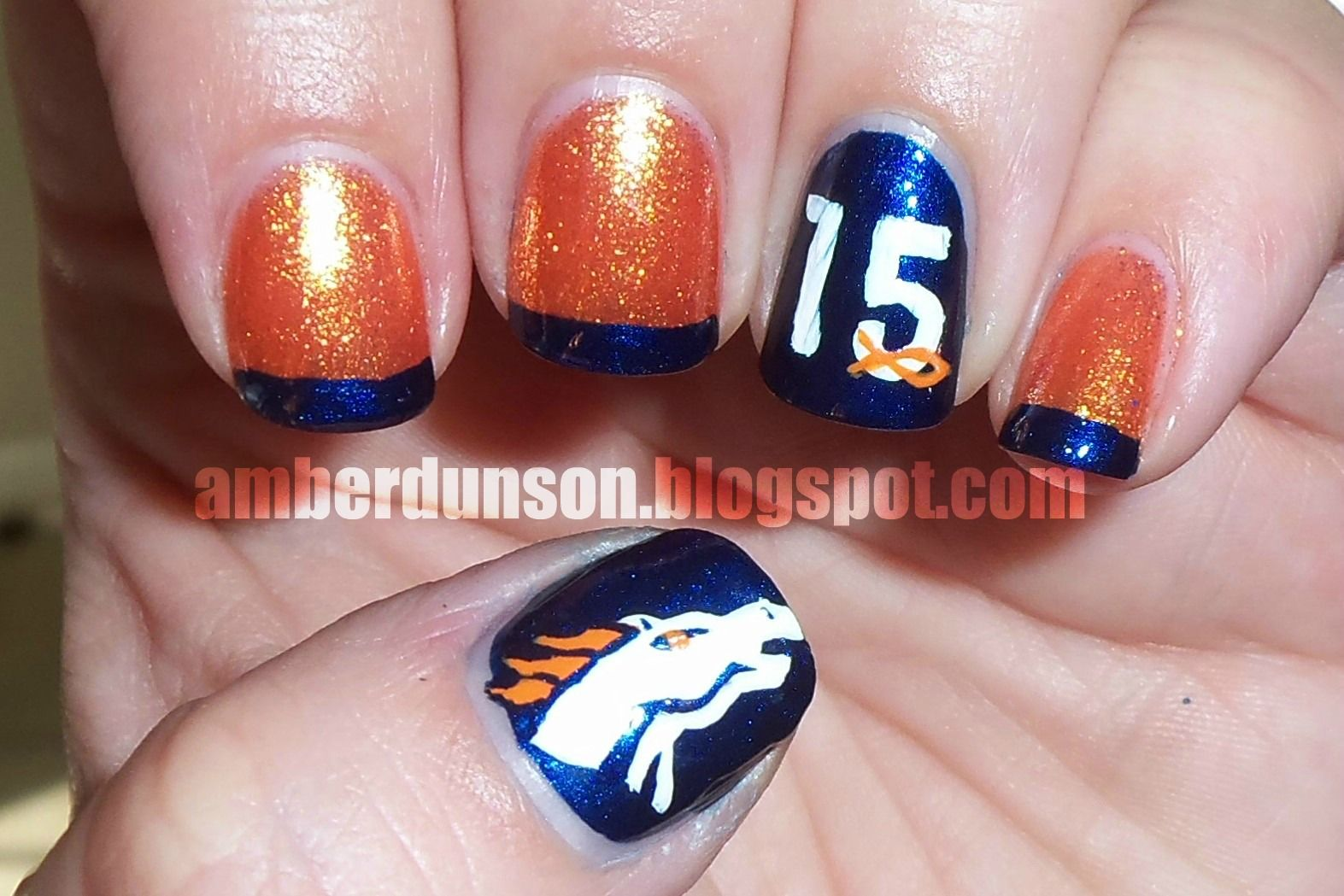 Denver Broncos | Nail Art | Pinterest | Denver, Manicure and Broncos ...