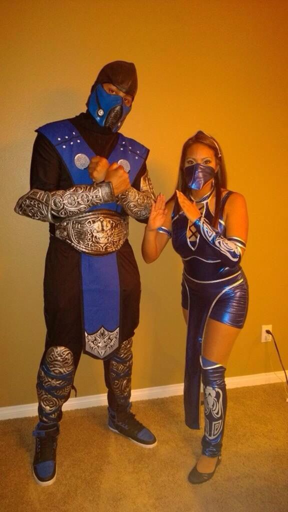 Mortal Kombat Couples Costumes Sub Zero And Kitana Couples Costumes Halloween Costumes Costumes