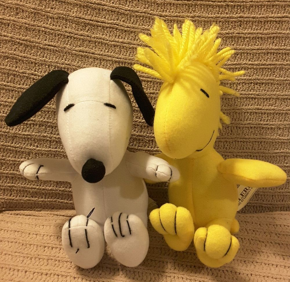 Snoopy And Woodstock Galerie Plush Lot Of 2 6 Peanuts Dolls