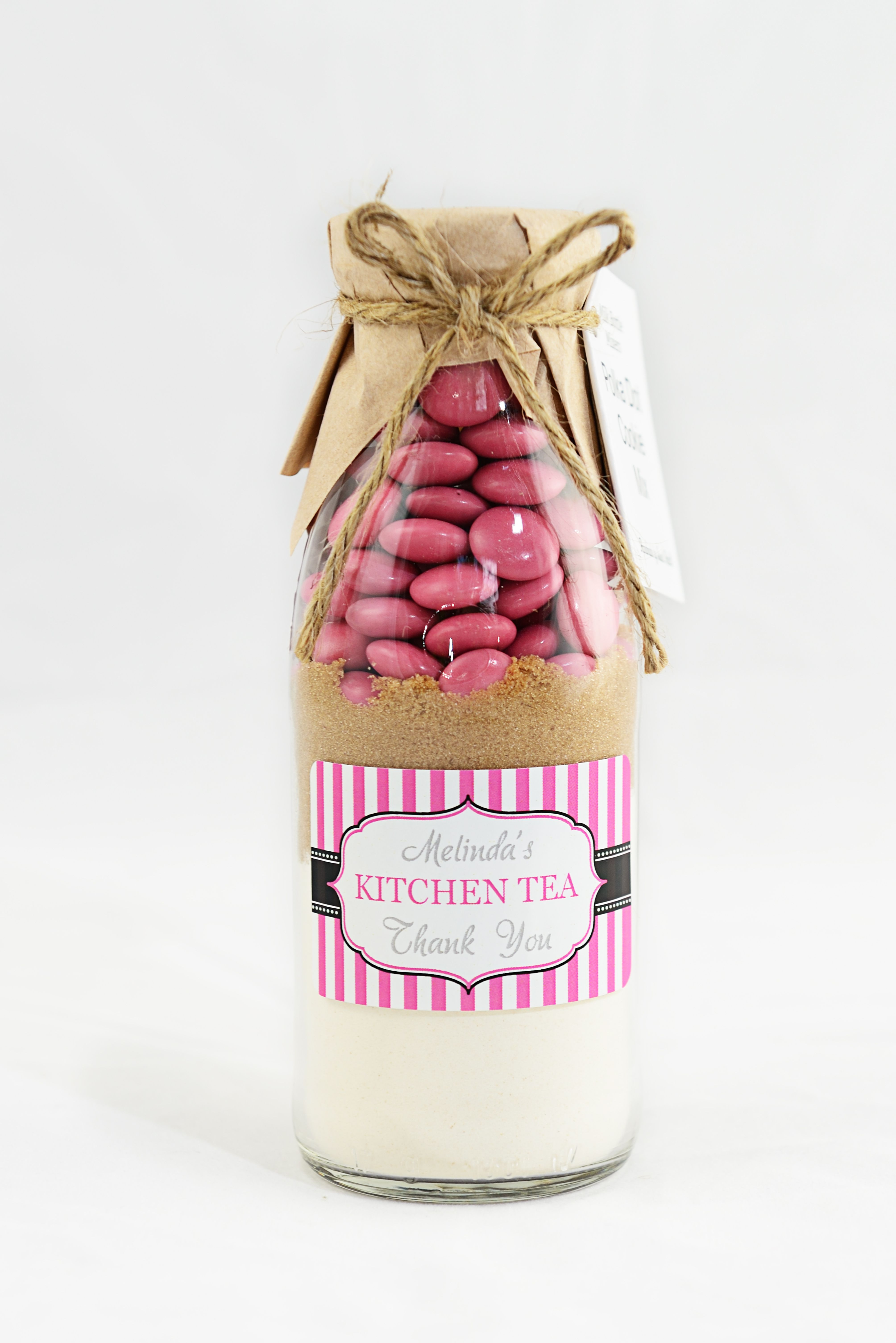 Polka Dot Cookie Mix dressed in a vertical striped label. This was a ...