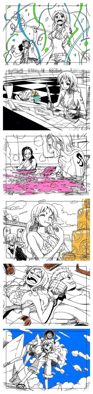 Pin de Fernanda López en Anime Imagenes de luffy, Nami