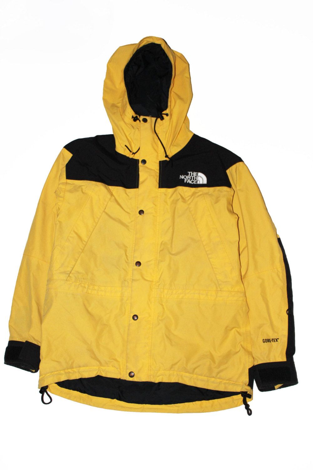d22b7c3369 Vintage 90s Women s The North Face Mountain Guide Gore-Tex jacket  Yellow Black Size M by VapeoVintage on Etsy