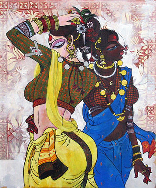 Varsha Kharatmal Indian art paintings, India art, Indian