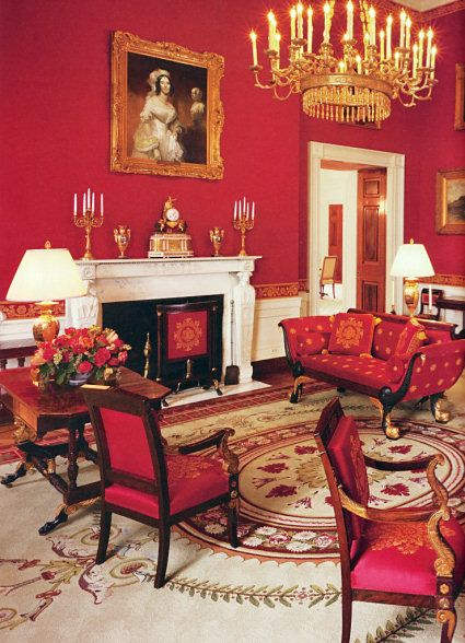 The White House Washington Dc The Red Room With Images