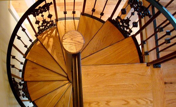 Best Spiral Staircase Custom Design By The Heirloom Companies 400 x 300
