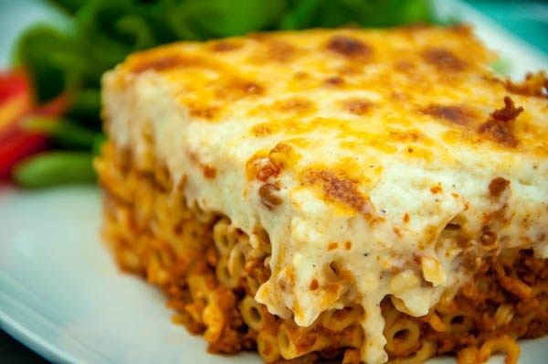 Greek Pastitsio Pasta With Minced Meat Sauce And Bechamel