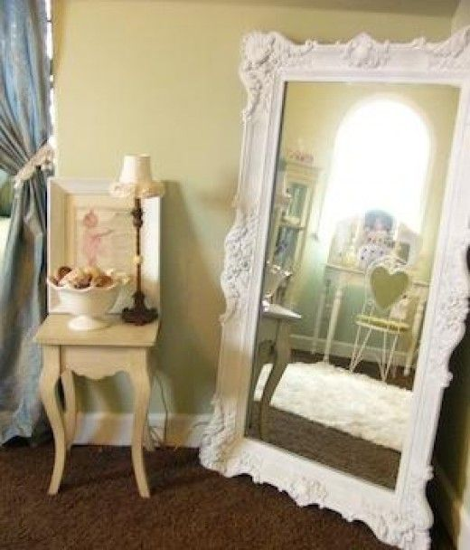 Shabby Chic Mirror How To Create An Antique Look Using Paint And Glaze