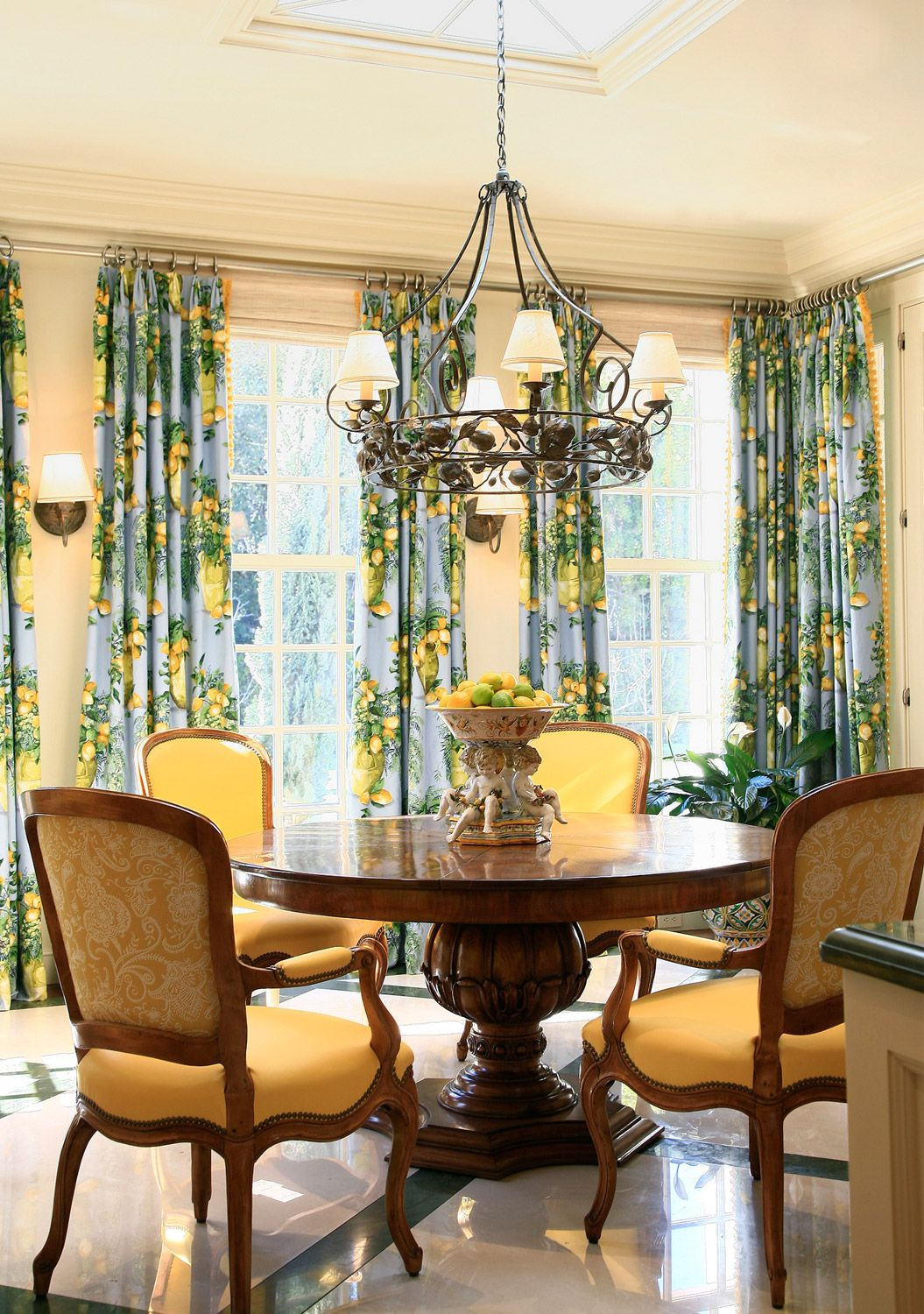 Dining Room Chandeliers Traditional Glamorous From The Portfolio Of Suzanne Tuckertucker And Marks  Gingham Inspiration