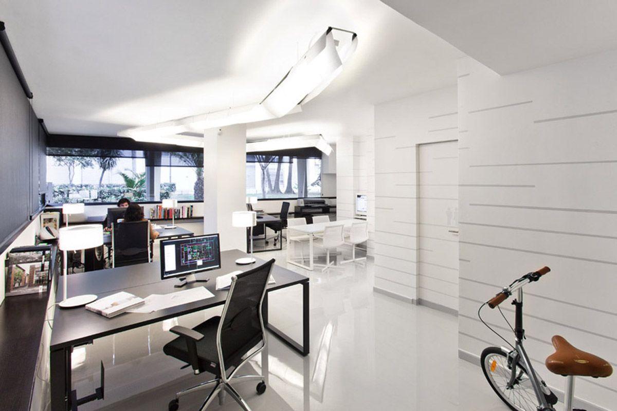 Office Design, Minimalist And Extravagant Loft Office Minimalist: Office  Interior Design Ideas Picture