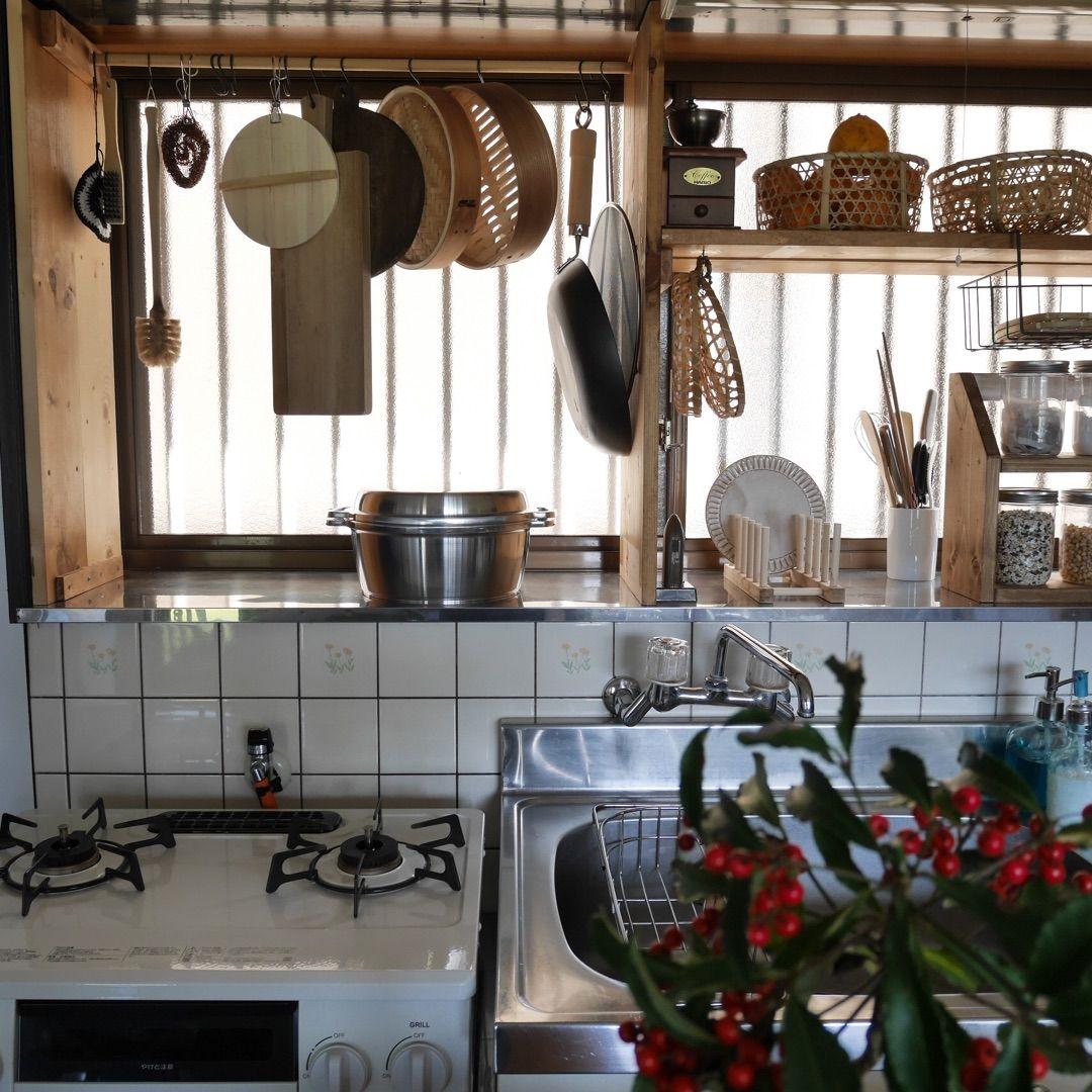 台所を使い易く 大きな出窓に大容量の収納棚をdiy キッチン 出窓