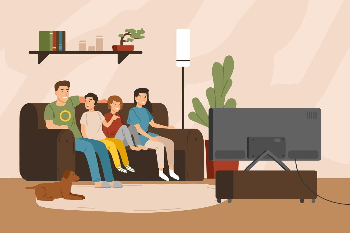 Family At Home Cartoon Styles Vector Illustration Illustration
