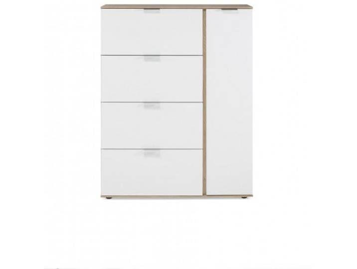 Highboard Vidro Iii Kommode Weiss San Remo Eiche Nachbildung 99x126x Filing Cabinet Home Decor Furniture