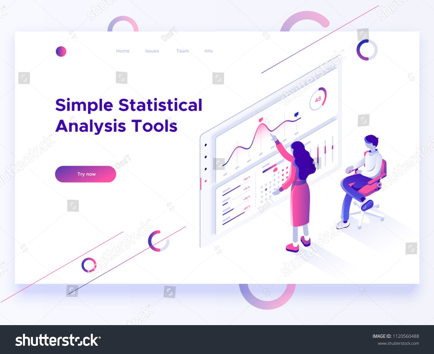 People Interacting With Charts And Analyzing Statistics Data