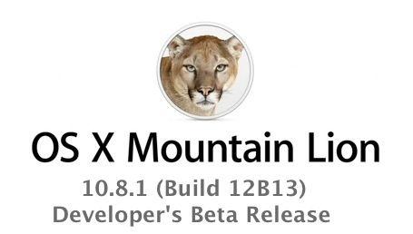 Mountain Lion 10.8.1 download