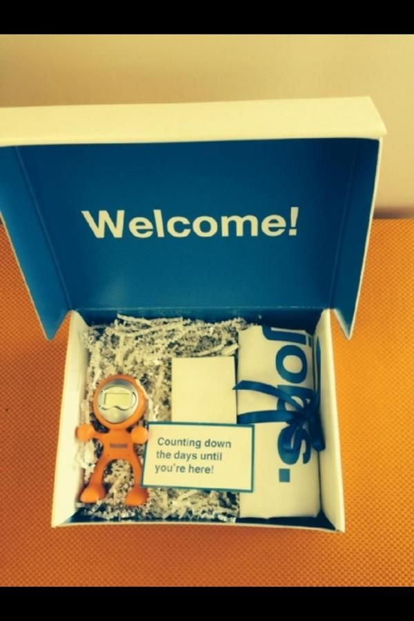 New Hire Welcome Kit Talentculture Wow Seeing Some Great Stuff On Tchat Right Now How About Some Welcome New Employee Corporate Gifts Welcome To The Team