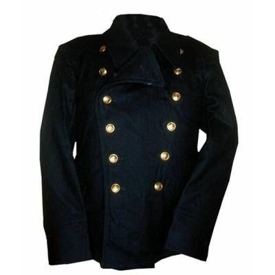 Russian navy wool pea coat