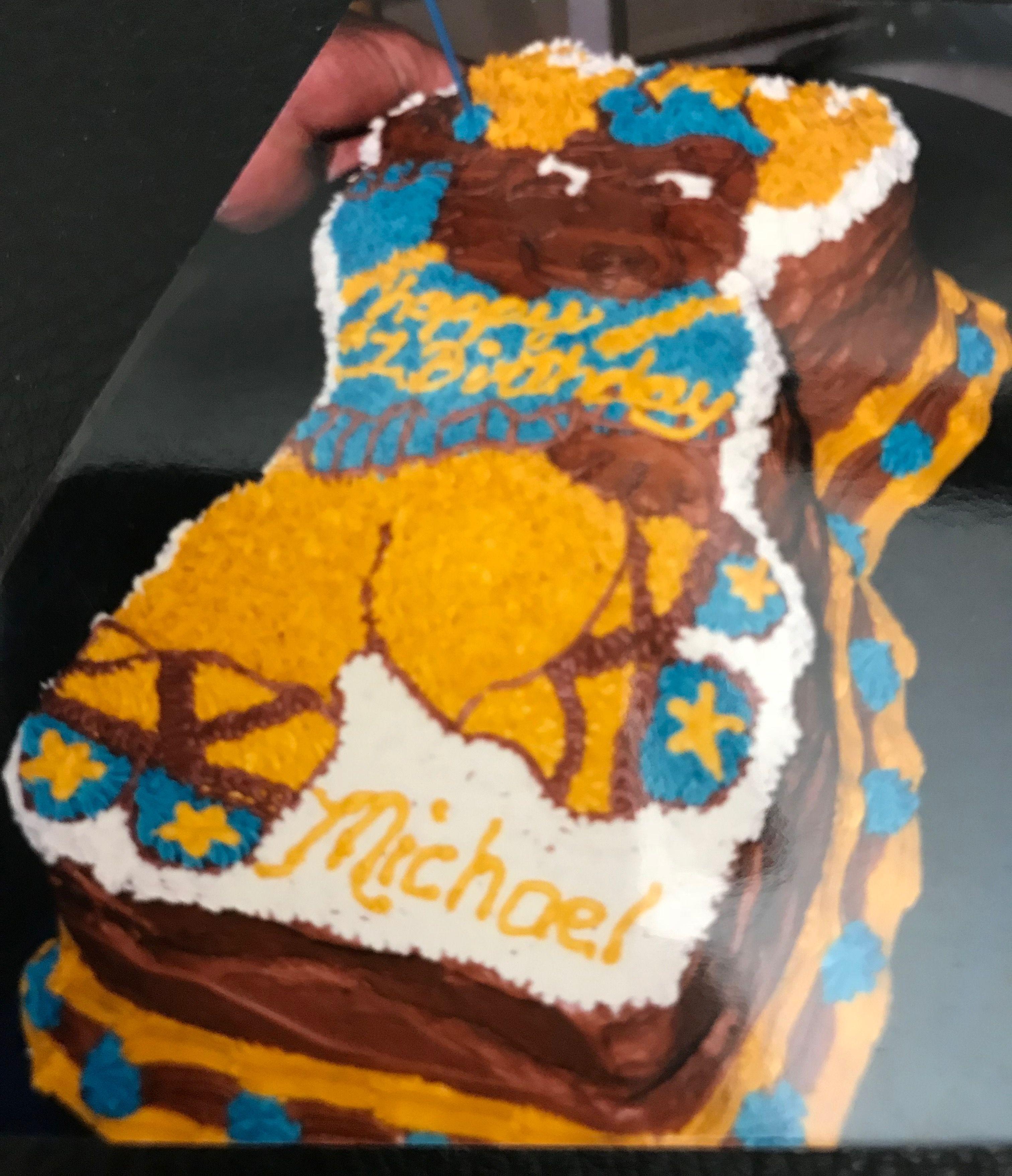 Moose Birthday Cake By Shelli Cakes Pinterest Birthday Cakes
