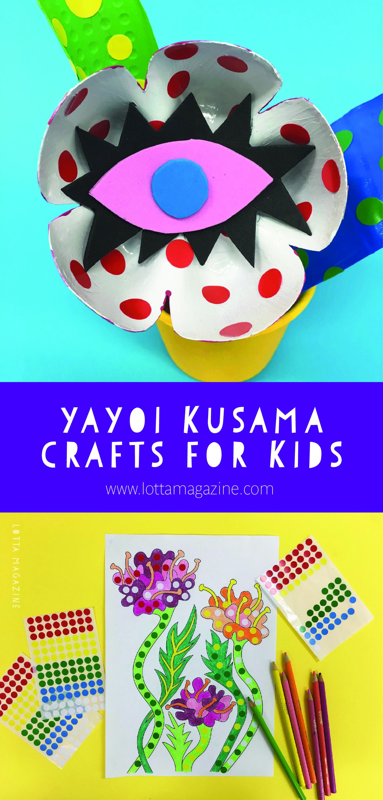 Photo of Yayoi Kusama crafts for kids