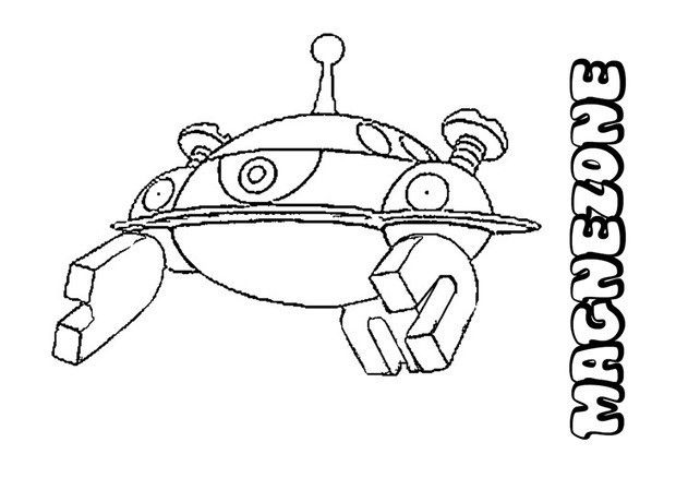Magnezone Pokemon Coloring Page More Electric Pokemon Coloring