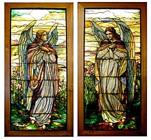 Pair of 8'H Stained Glass Angel Windows. Please click the image for more information.