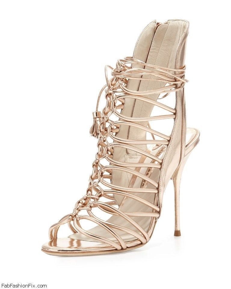 Sophia Webster Lacey Strappy Metallic Sandal
