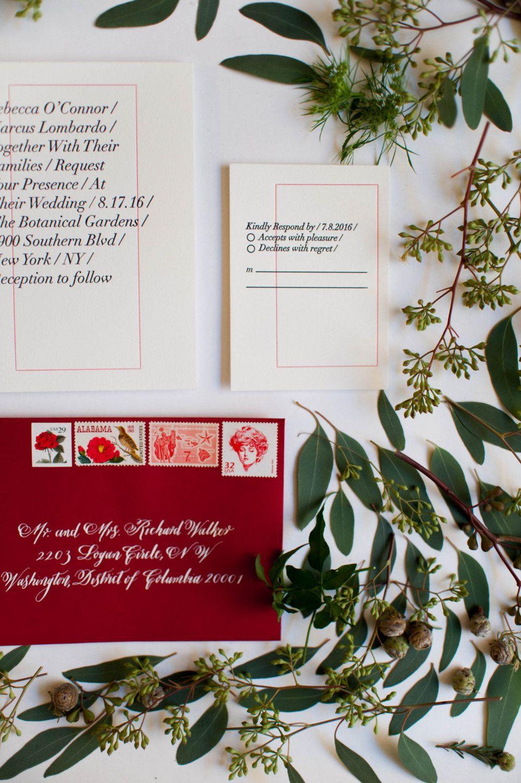 Letterpress Wedding Invitation - Rebecca Collection - SAMPLE of ...