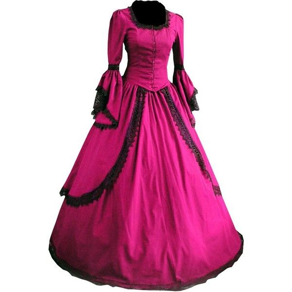 Partiss Women Lace Floor-length Gothic Victorian Dress (1.365 ARS ...