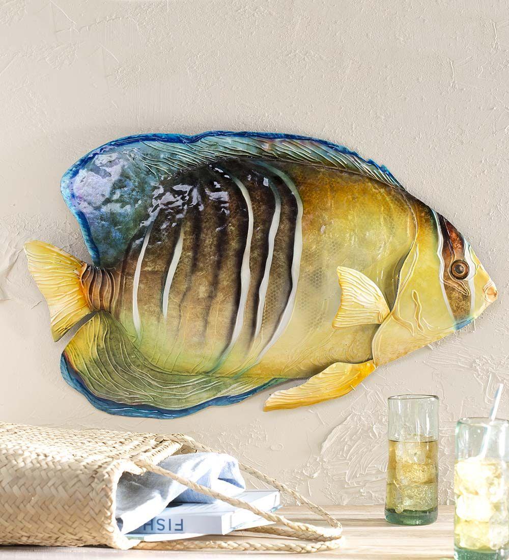 Metal and Capiz Fish Wall Art   On the walls & shelves & thrown ...