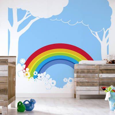 Rainbow 380023 digital mural savannah 39 s room for Digital wall mural