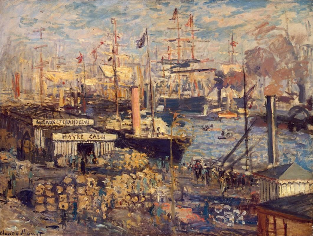 The Grand Dock at Le Havre/Claude Monet