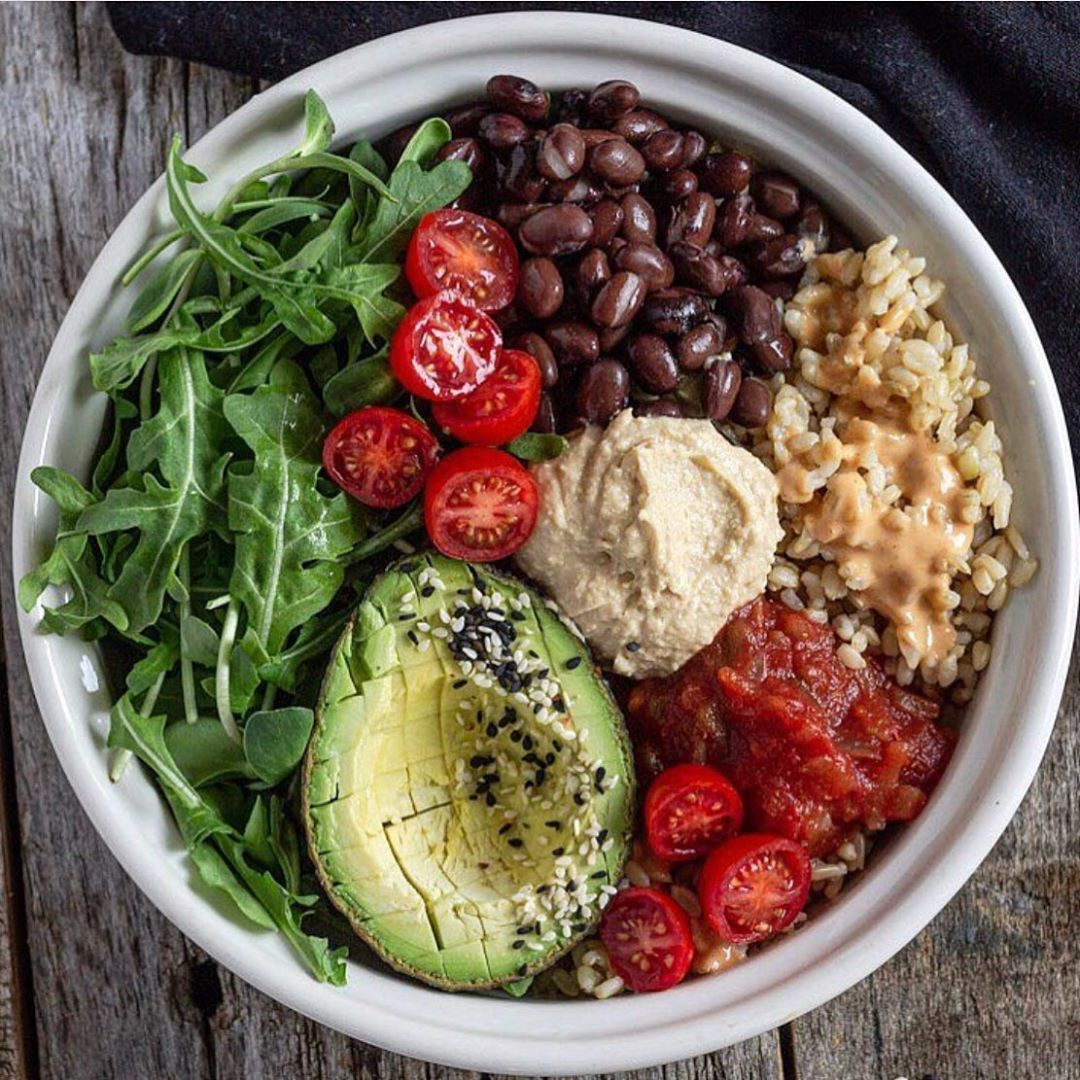 """Forks Over Knives on Instagram """"Beans, rice, and greens"""
