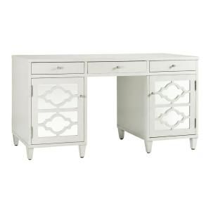 Home Decorators Collection Reflections White Executive Desk 418