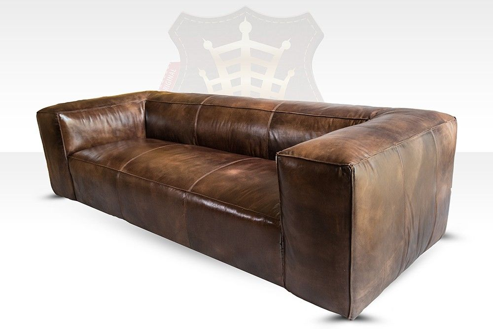 Vintage Leder Clubsofa Tribeca 3 Sitzer By Halo Canape Cuir