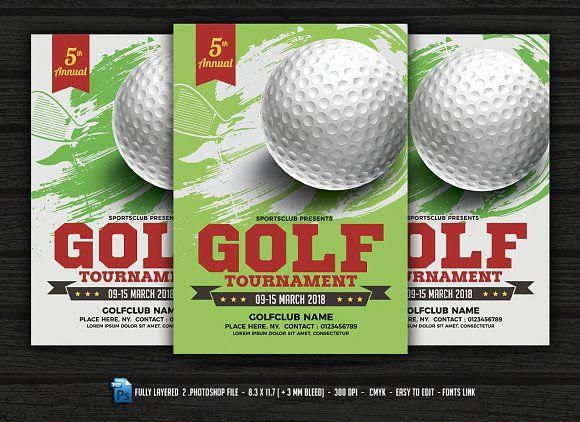 Golf Tournament Flyer By Designworkz Ongolf Tournament Flyer