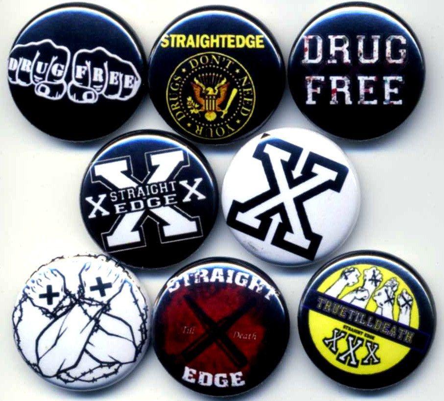 Straight Edge Pins Straight Edges Edges Punk Culture