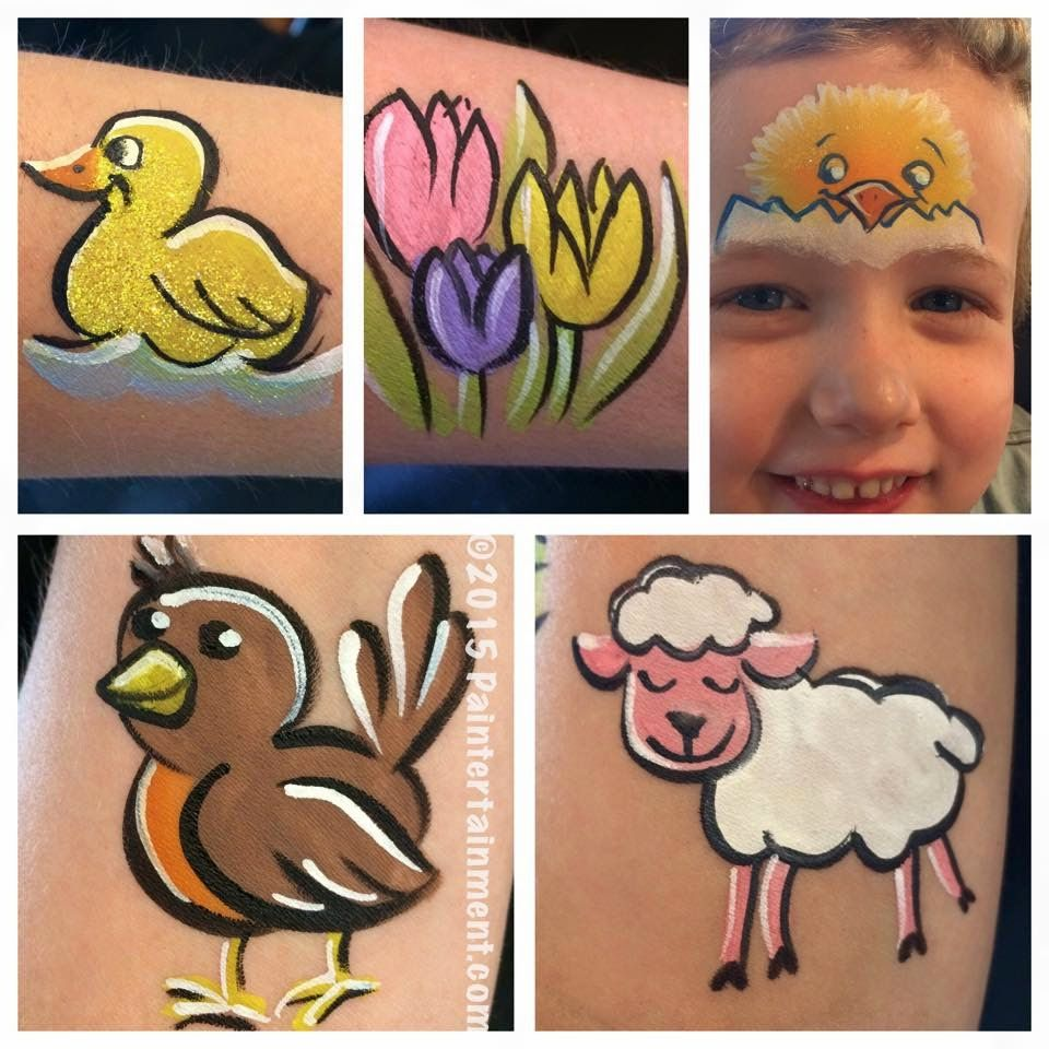 Springtime Happenings At Paintertainment Face Painting Easter Face Paint Kids Face Paint