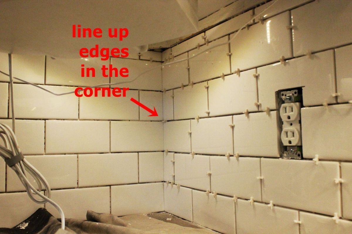 Groovy How To Install Subway Tile Backsplash Corners Google Interior Design Ideas Tzicisoteloinfo