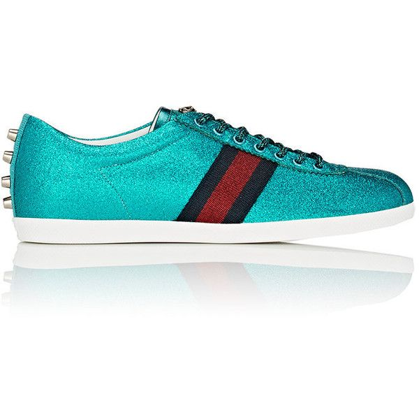 7b819f431ea Gucci Men s Bambi Glitter Fabric Sneakers ( 695) ❤ liked on Polyvore  featuring men s fashion