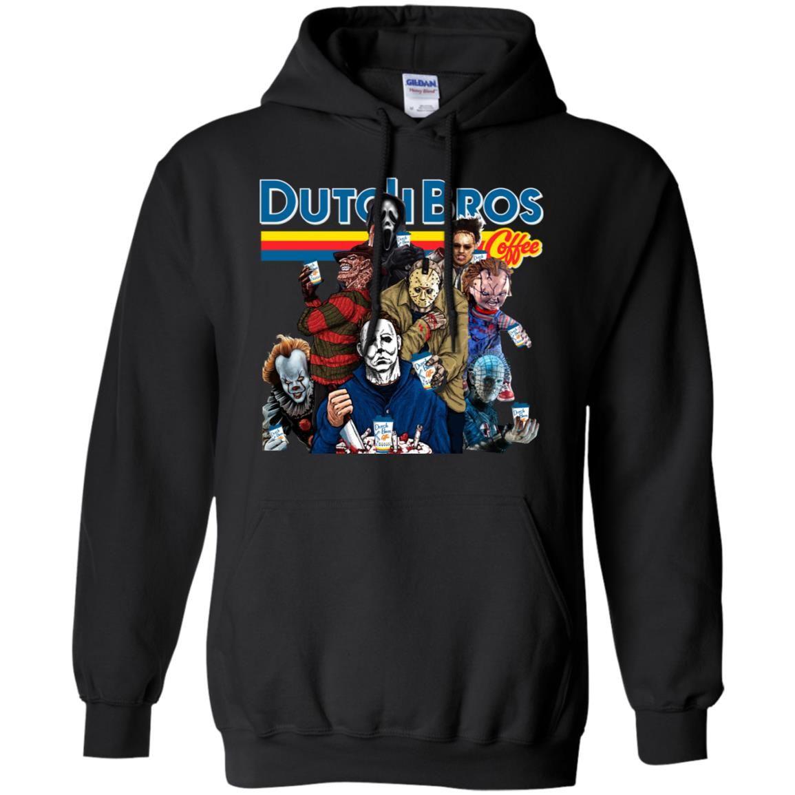 Horror Characters Dutch Bros coffee shirt, hoodie, ladies tee #dutchbros
