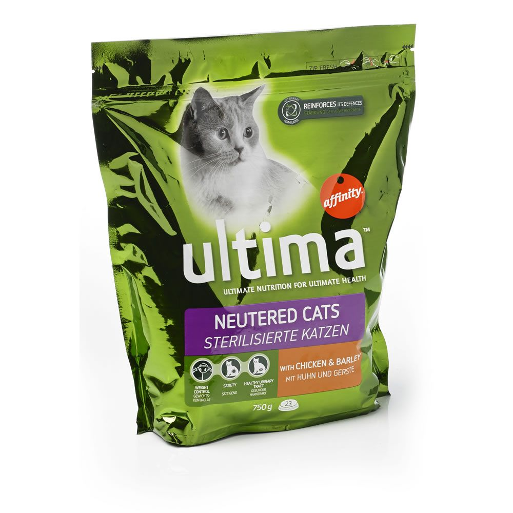 Ultima Dry Cat Food Sterlised 750g at