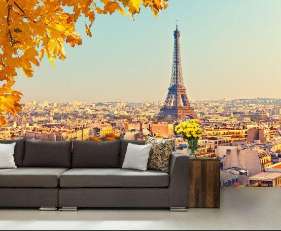 City 3d Wall Mural Eiffel Tower Wall Mural Eiffel By 4kdesignwall Wall Murals Mural Wallpaper 3d Wall Murals