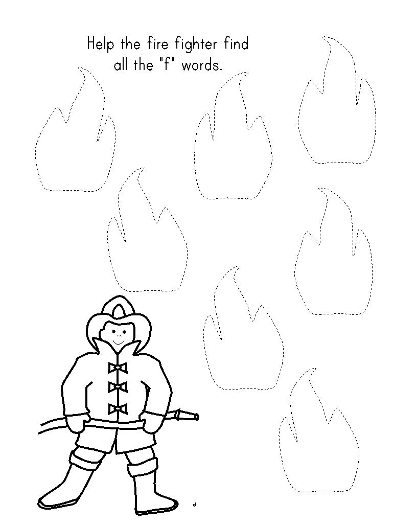 fireman trace worksheet for kids (2) | WWRD różne | Pinterest ...